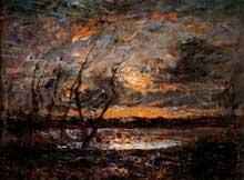 Auguste Ravier: paysage près de Crémieu. Huile sur toile, 25 x 33,5 cm. Paris, Musée d'Orsay