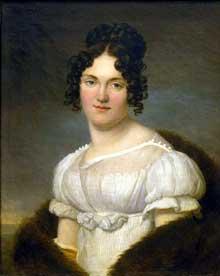 Henri François Riesener: Portrait de femme, huile sur toile, 54 x 39 cm. Le Musée National des Beaux –Arts de la République de Moldova