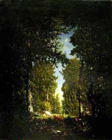 Théodore Rousseau: Une avenue, forêt de L'Isle-Adam. 1846 à 1849. Huile sur toile, 101 cm x 82 cm. Paris, Musée d'Orsay