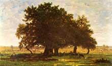 Théodore Rousseau: Les chênes d'Apremont. 1852. Huile sur toile, 63,5 × 99,5 cm. Paris, musée d'Orsay