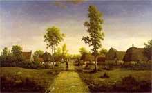 Théodore Rousseau: le Village deBecquigny. 1857-1864. Huile sur toile, 63,5 x 100 cm. New York, Frick Collection