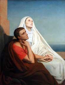 Ary Scheffer: saint Augustin et sa mère. 1855. Huile sur toile, 114 x 147 cm. Paris, Musée du Louvre