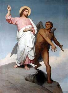 Ary Scheffer: la tentation du Christ. 1859. Huile sur toile. Paris, Musée du Louvre