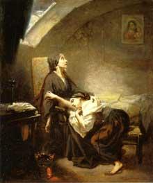 Octave Tassaert: la famille pauvre ou le suicide. 1849. Huile sur toile. Montpellier, Musée Fabre