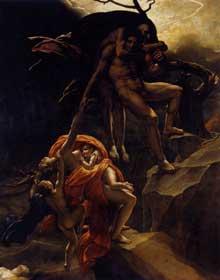 Anne Louis Girodet de Roucy-Trioson: Scène du Déluge. Vers 1806. Huile sur toile, 441 x 341 cm. Paris, Musée du Louvre