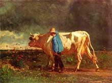 Constant Troyon: avant l'orage. 1860. Huile sur toile, 77 x 63cm. Budapest, Magyar Szépmüvészeti Múzeum