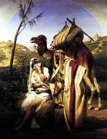 Horace Vernet: Jehuda et Tamar. 1840. Huile sur toile, 130 x 98 cm. Londres, Wallace collection
