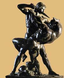 Antoine Barye: Thésée et le minotaure. 1841-1846. Bronze, 42cm. Paris, Musée du Louvre