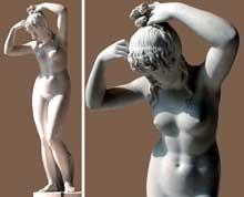 Pierre Nicolas Beauvallet: la chaste Suzanne. 1813. Marbre blanc. Paris, musée du Louvre