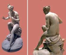 Pierre Nicolas Beauvallet: Suzanne au bain. 1913. Marbre blanc. Paris, musée du Louvre