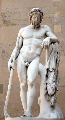 François Joseph Bosio: Aristée, dieu des jardins, 1817. Marbre, 2m16. Paris, musée du Louvre