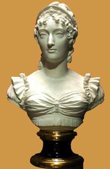 François Joseph Bosio: Buste de la duchesse d'Angoulême. 1825. Biscuit de porcelaine dure. Manufacture de Sèvres. Paris, musée du Louvre