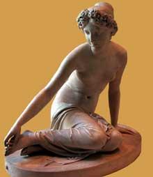 François Joseph Bosio: la nymphe Salmacis. 1826. Marbre blanc. Paris, musée du Louvre