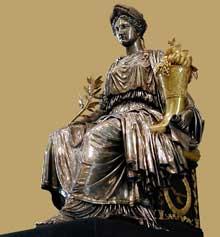 Antoine Denis Chaudet: la paix. 1800-1810. Argent doré; bronze. Paris, Musée du Louvre
