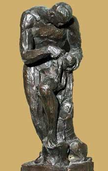 Antoine Denis Chaudet: Phorbas, Œdipe (esquisse). 1799. Bronze. Paris, Musée du Louvre