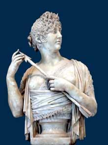 Joseph Chinard: Madame de Verninac en Diane chasseresse. 1800-1808. Marbre, 85 cm. Paris, Musée du louvre