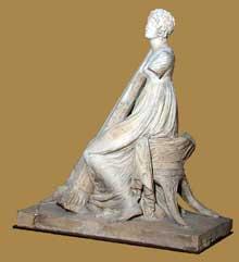 Joseph Chinard: jeune harpiste. 1790-1810. Terre non cuite. Paris, Musée du Louvre