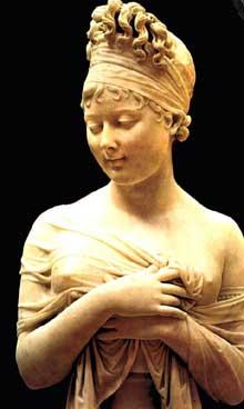 Joseph Chinard: madame de Récamier. Vers 1802. Lyon, musée des beaux Arts