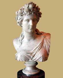 Edmé Etienne François Gois: Corinne. 1836. Marbre. Paris, musée du Louvre