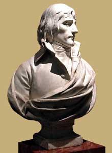 Charles Louis Corbet: buste de Bonaparte, premier consul. 1799. Plâtre. Paris, Musée Carnavalet