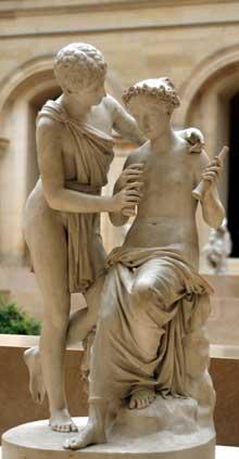 Jean Pierre Cortot: Daphnis et Chloé. 1827. Marbre. Paris, musée du Louvre