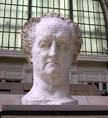 David d'Angers: Buste de Goethe. Plâtre, 58 x 83cm. Paris, musée d'Orsay