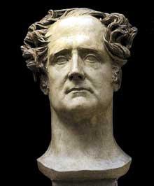 David d'Angers: Buste de Chateaubriand. Plâtre, 60 cm. Collection privée