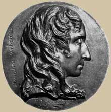 David d'Angers: Marceline Valmore. 1832. Médaille de bronze, diamètre: 15 cm. Paris, Musée du Louvre