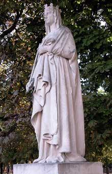 Augustin Dumont: Blanche de Castille. Pierre. Paris, Jardin du Luxembourg