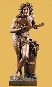 Francisque Joseph Duret: vendangeur au repos. Bronze, 196cm. Collection privée
