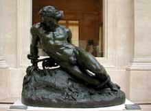 Jehan Duseigneur: Roland furieux. Bronze. Paris, musée du Louvre