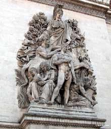 Antoine Etex: la Paix. Arc de Triomphe de l'Etoile, Paris