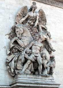 Antoine Etex: la République. Arc de Triomphe de l'Etoile, Paris