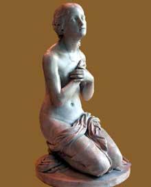 Jean Louis Jaley: la prière. 1831. Marbre. Paris, musée du Louvre