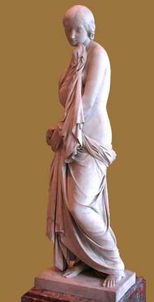 Jean Louis Jaley: la pudeur. 1833. Marbre. Paris, musée du Louvre