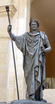 François Frédéric Lemot: Napoléon en triomphateur. 1808. Plomb, 2m60. Paris, le Louvre