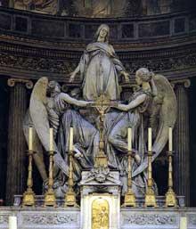 Carlo Marochetti: Marie Madeleine exaltée par les anges. 1841. Marbre, 449 cm. Paris, église de la Madelein
