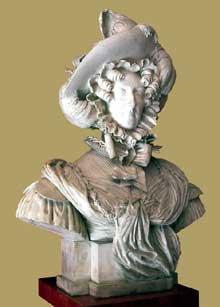 Antonin Marie Moine: buste de Marie Amélie de Bourbon Sicile, reine des Français. 1833. Marbre. Paris, musée Carnavalet