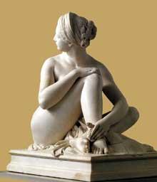 James Pradier: Odalisque. 1841. Marbre, 105 cm. Lyon, musée des beaux Arts