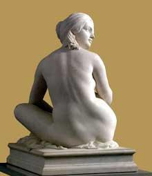 James Pradier: Odalisque; vue de dos. 1841. Marbre, 105 cm. Lyon, musée des beaux Arts