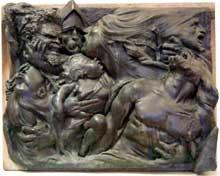 Auguste Préault: Tuerie, 1834, fonte 1850. Bronze, 109 x 140 x 21 cm . Chartres, Musée des Beaux-Arts