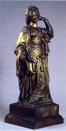 Auguste Préault: Clémence Isaure, 1844-1854. Bronze, 69,5 x 24,9 x 24,9 cm. Paris, Musée du Louvr