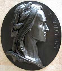 Auguste Préault: Virgile. 1853. Haut relief en bronze, 86 x 95 cm. Paris, Musée d'Orsay.