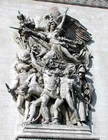 François Rude: le départ des volontaires. Pierre. Paris, Arc de Triomphe de l'étoile