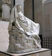 François Rude: Napoléon s'éveillant à l'immortalité. 1845. Modèle original en plâtre. 195 cm x 215 cm x 96 cm
