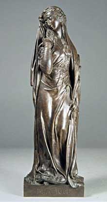 Henri de Triqueti (1803-1874): Béatrice, 1839. Bronze - 38,5 x 12,2 x 9 cm. Paris, Musée du Louvr
