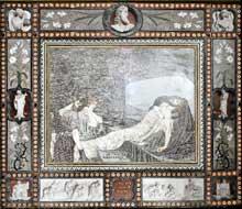 Henri de Triqueti (1803-1874): Décor de la chapelle du prince Albert au château de Windsor. Mur nord du chœur: La Lamentation sur le Christ mort. The Royal Collection
