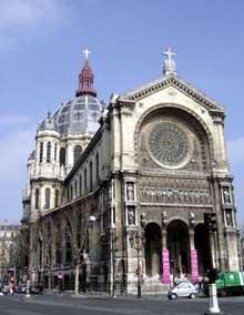 Victor Baltard: l'église saint Augustin de Paris.