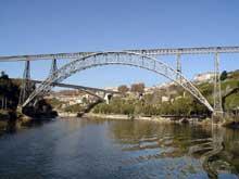 Gustave Eiffel: le ponte Maria Pia sur le Douro près de Porto