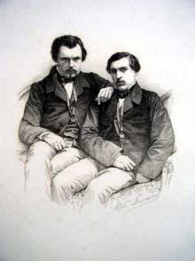 Portrait des frères Jules et Edmond Goncourt